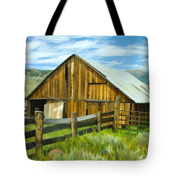 Spring Range Barn Tote Bag