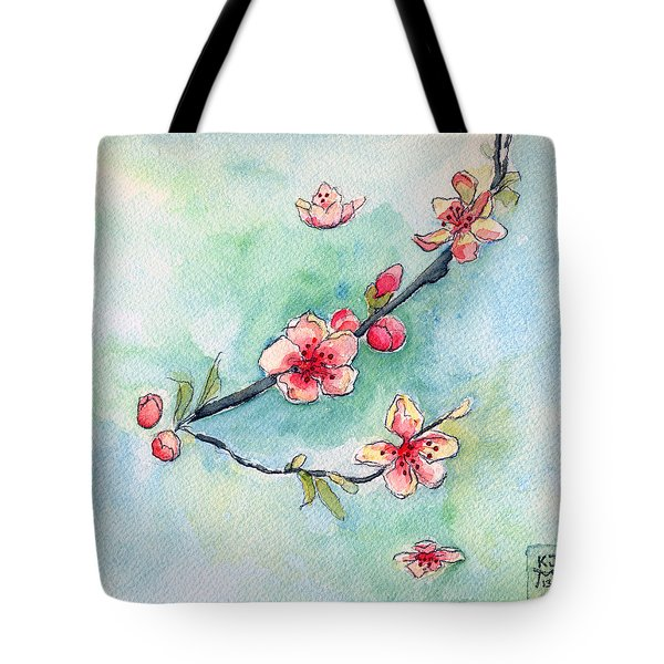 Spring Relief Tote Bag by Katherine Miller