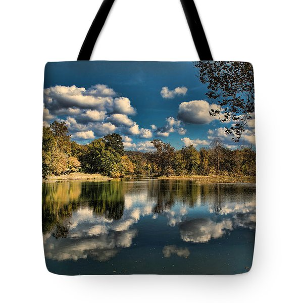 Spring River Autumn Tote Bag