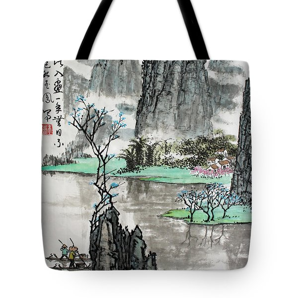 Spring River II Tote Bag by Yufeng Wang