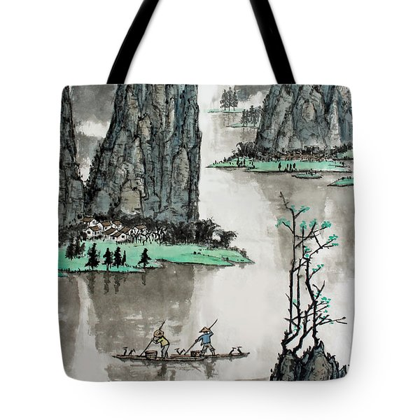 Spring River Tote Bag by Yufeng Wang