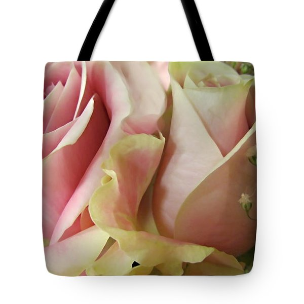 Spring Romance Pink Roses Tote Bag by Danielle  Parent