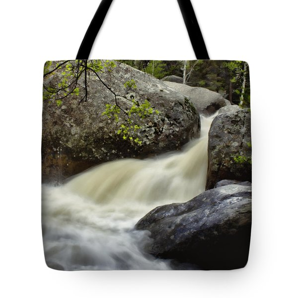 Tote Bag featuring the photograph Spring Runoff by Ellen Heaverlo