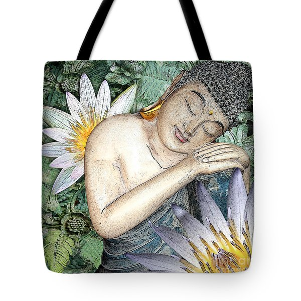Tote Bag featuring the digital art Spring Serenity by Christopher Beikmann