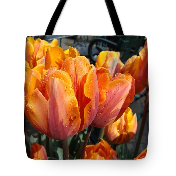 Tote Bag featuring the photograph Spring Shower by Cheryl Hoyle