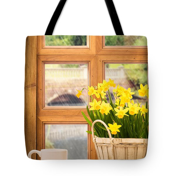 Spring Showers Tote Bag by Amanda Elwell