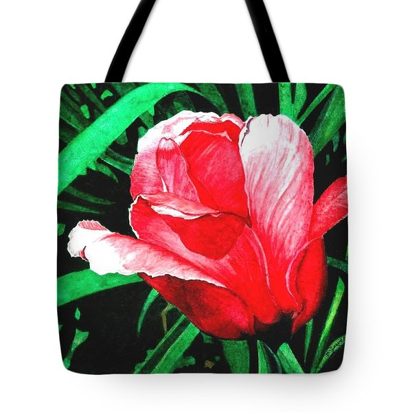 Tote Bag featuring the painting Spring Solo by Barbara Jewell