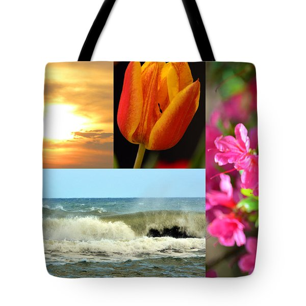 Spring Summer Collage Tote Bag by Sandi OReilly