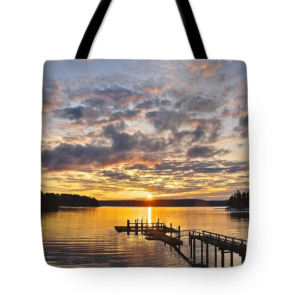 Spring Sunrise Tote Bag by Sean Griffin