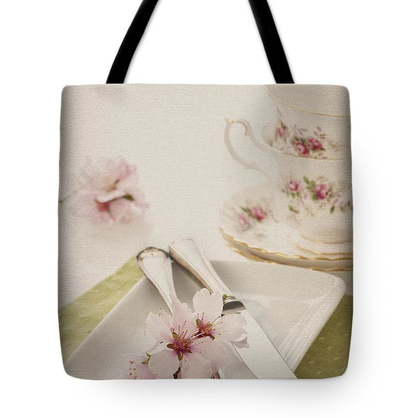 Spring Table Setting Tote Bag by Amanda Elwell