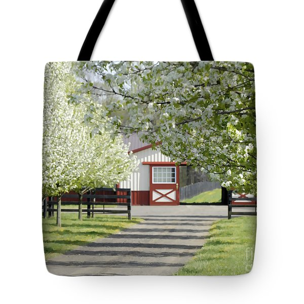 Spring Time At The Farm Tote Bag by Sami Martin