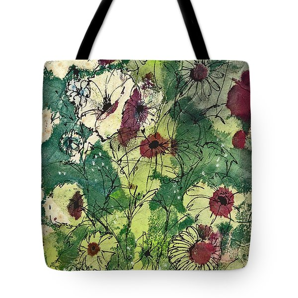 Tote Bag featuring the painting Spring Tracery by Joan Hartenstein