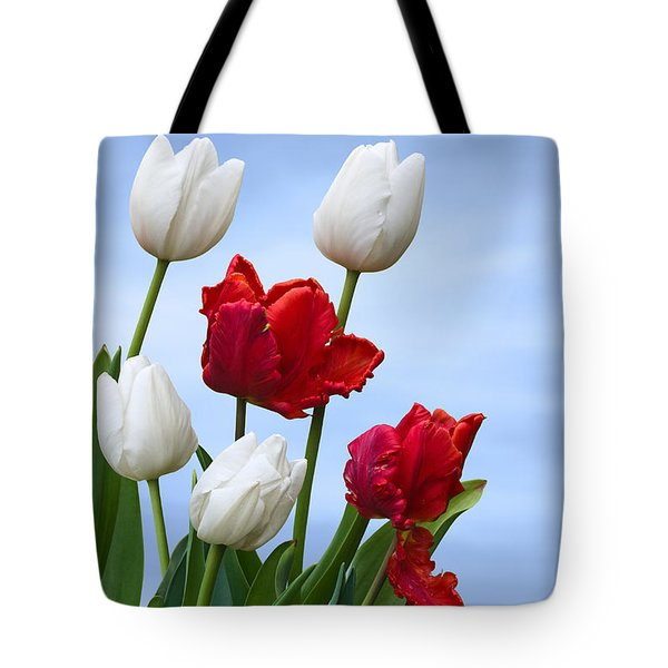 Spring Tulips Tote Bag by Jane McIlroy