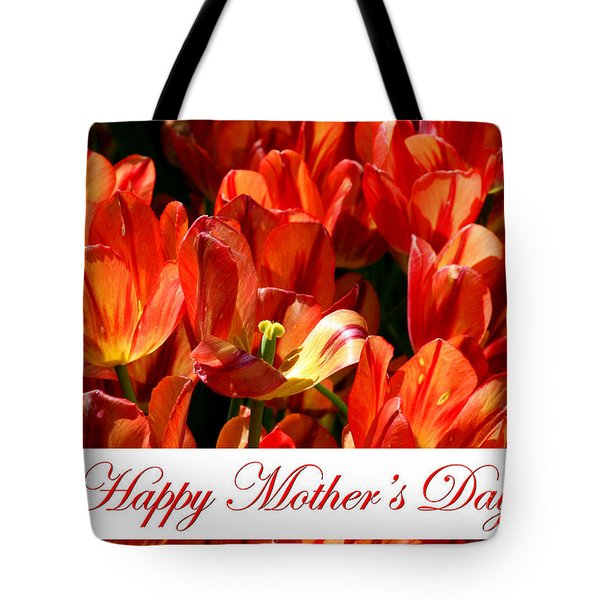 Tote Bag featuring the photograph Spring Tulips - Mother's Day by E B Schmidt