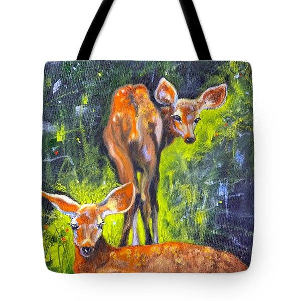 Spring Twins 1 Tote Bag