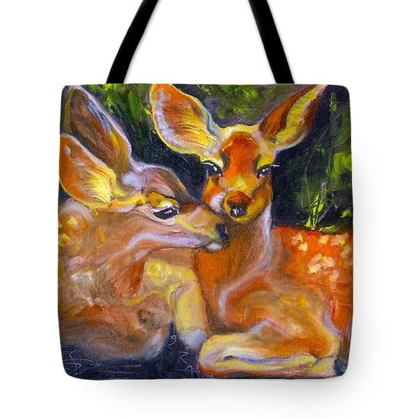 Spring Twins 2 Tote Bag