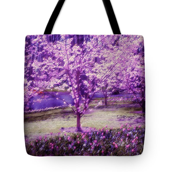 Spring Wonderland Pastel. Garden Keukenhof. Netherlands Tote Bag by Jenny Rainbow