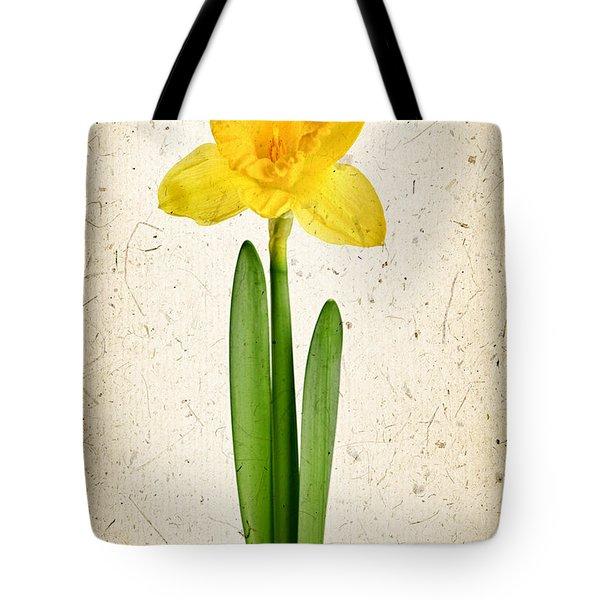 Spring Yellow Daffodil Tote Bag by Elena Elisseeva
