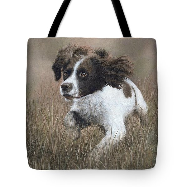 Springer Spaniel Painting Tote Bag