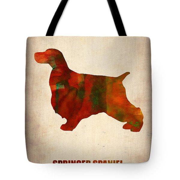 Springer Spaniel Poster Tote Bag
