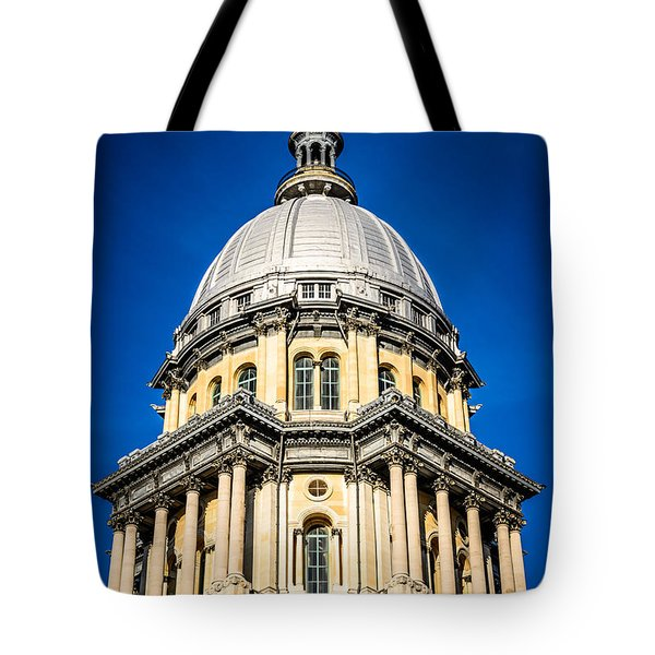 Springfield Illinois State Capitol Dome Tote Bag by Paul Velgos