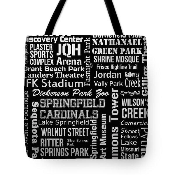 Springfield Tote Bag by Ryan Burton