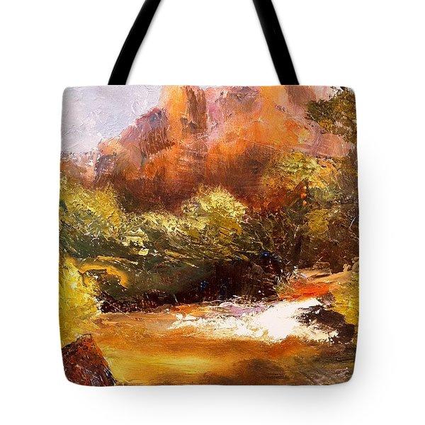 Springs In The Desert Tote Bag by Gail Kirtz