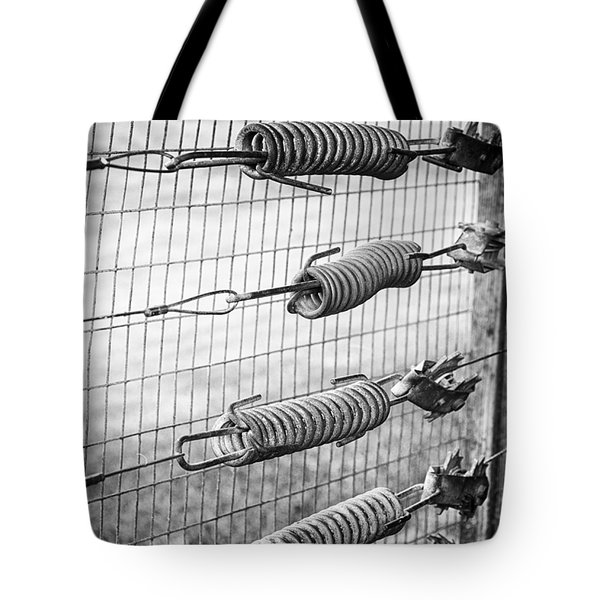 Springs On The Fence Tote Bag