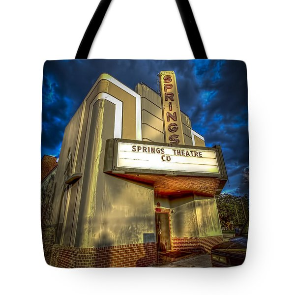 Springs Theater Co Tote Bag by Marvin Spates