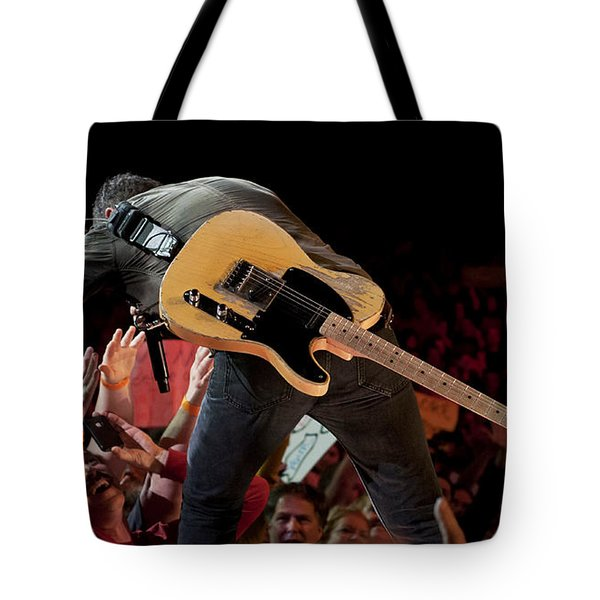 Springsteen In Charlotte Tote Bag by Jeff Ross