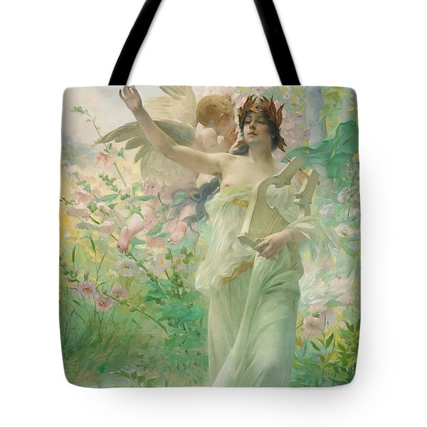 Springtime Allegory Tote Bag