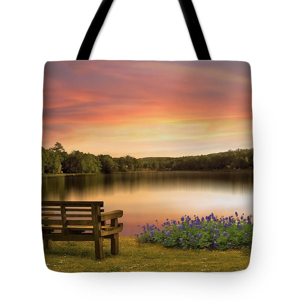 Springtime At The Lake Tote Bag