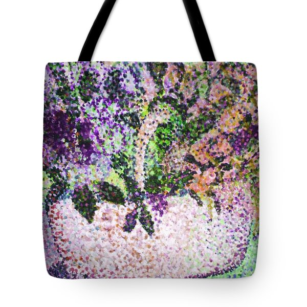 Springtime Basket Tote Bag by Vickie G Buccini