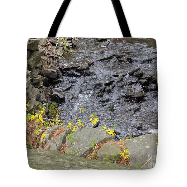 Tote Bag featuring the photograph Springtime Creek by Christina Verdgeline
