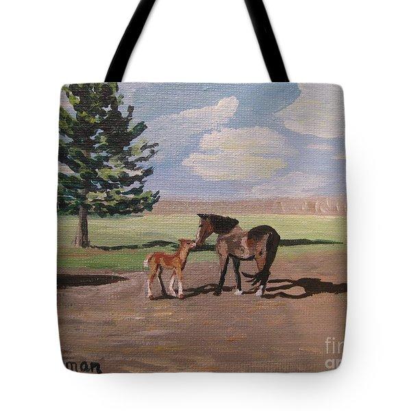 Springtime Foal Tote Bag