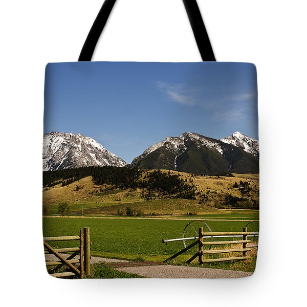 Tote Bag featuring the photograph Springtime In Montana by Sue Smith