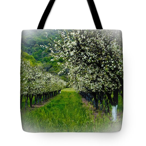 Springtime In The Orchard Tote Bag by Bill Gallagher