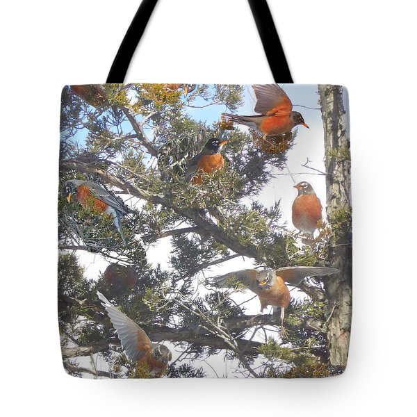 Springtime Moments- Birds Of A Feather Tote Bag