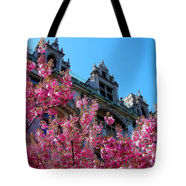 Springtime On Commonwealth Avenue Tote Bag
