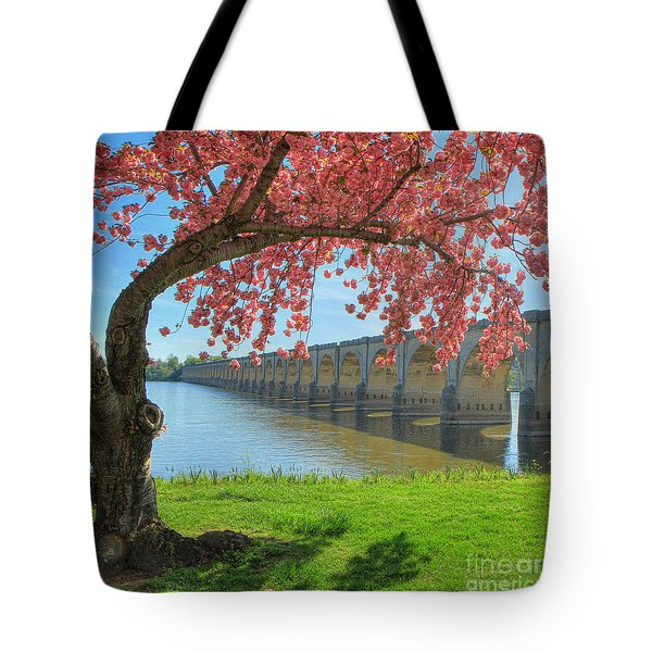 Springtime On The River Tote Bag