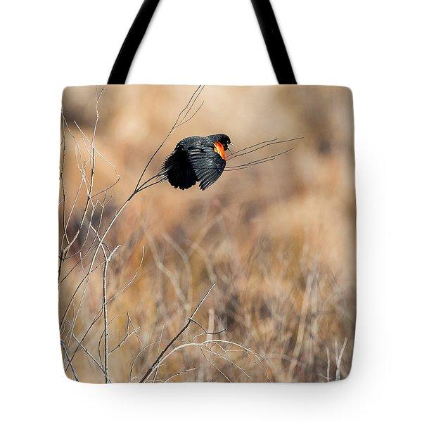 Springtime Song Square Tote Bag