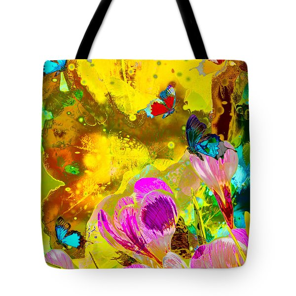 Springtime Splash Tote Bag