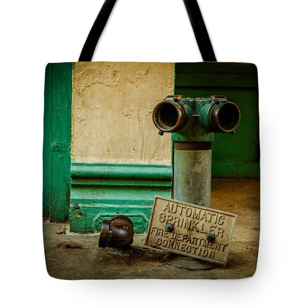 Sprinkler Green Tote Bag by Melinda Ledsome