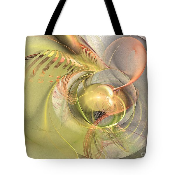 Sprouting Up - Abstract Art Tote Bag