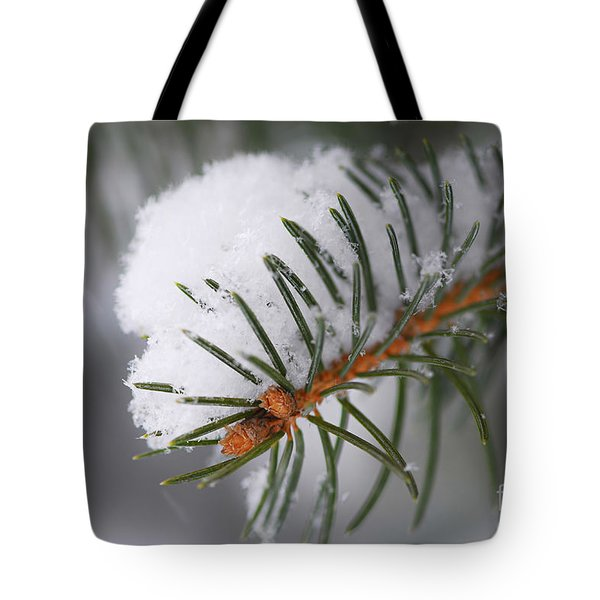 Spruce Branch With Snow Tote Bag by Elena Elisseeva