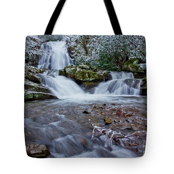 Spruce Flats Falls II Tote Bag by Douglas Stucky