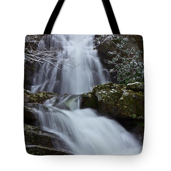 Spruce Flats Falls IIi Tote Bag by Douglas Stucky