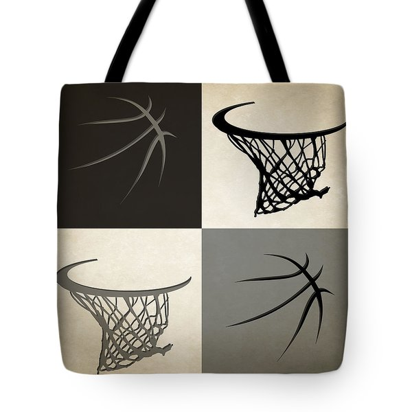 Spurs Ball And Hoop Tote Bag
