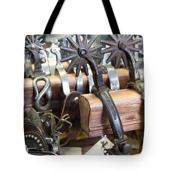 Tote Bag featuring the photograph Spurs by Cathy Donohoue