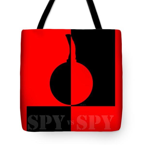 Spy Vs Spy Tote Bag by Bob Orsillo